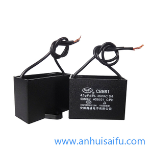 CBB61 Fan Capacitors 4uf,4.5uf 450VAC