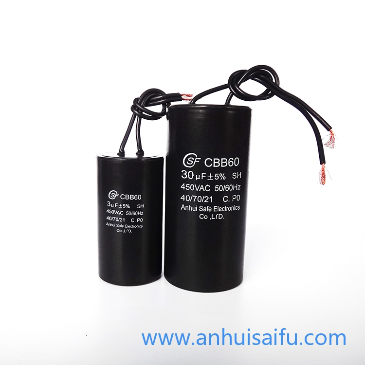 CBB60 motor run capacitors 2.5uf 3uf