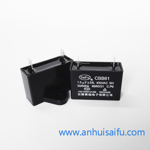 CBB61 Fan Capacitors 1.5uf, 1.8uf 450VAC