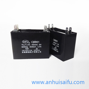 CBB61 Fan Capacitors 14uf, 15uf 450VAC