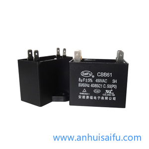 CBB61 Fan Capacitors 7uf, 8uf 450VAC