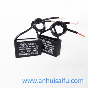 CBB61 Fan Capacitors 1.2uf 450VAC