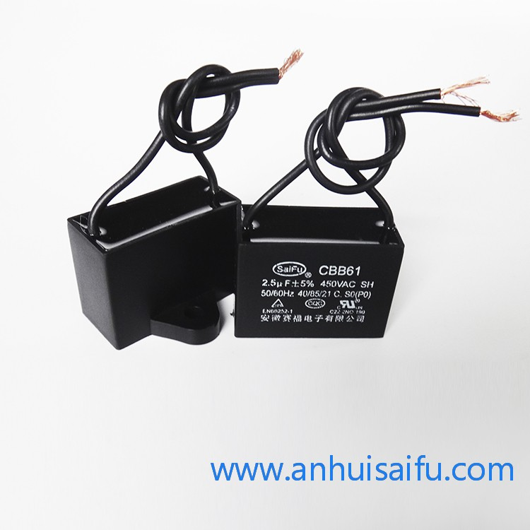 CBB61 Fan Capacitors 2uf,2.5uf 450VAC