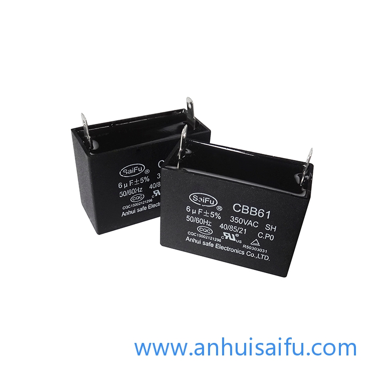 CBB61 Fan Capacitors 6uf, 6.5uf 450VAC