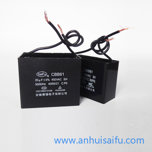 CBB61 Fan Capacitors 20uf-35uf 450VAC