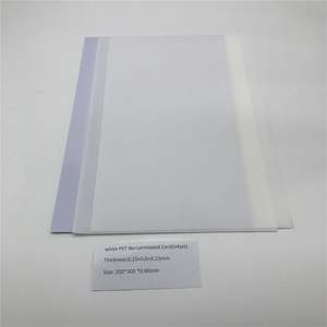 White PET No-Laminated Card(Inkjet)